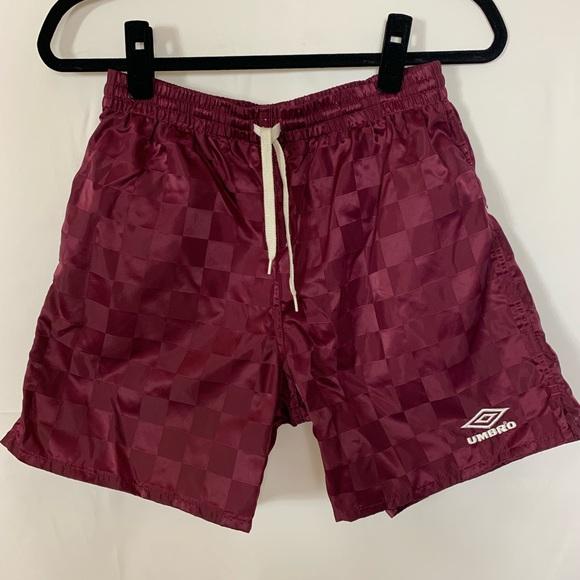 40c02a4dea Umbro Shorts | Vintage Maroon Checkerboard Soccer | Poshmark